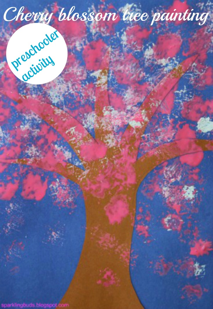 Cherry Blossom Tree Craft For Preschoolers Sparkling Buds