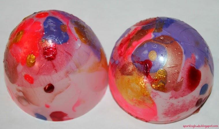 Nail Polish Marbled Easter Egg