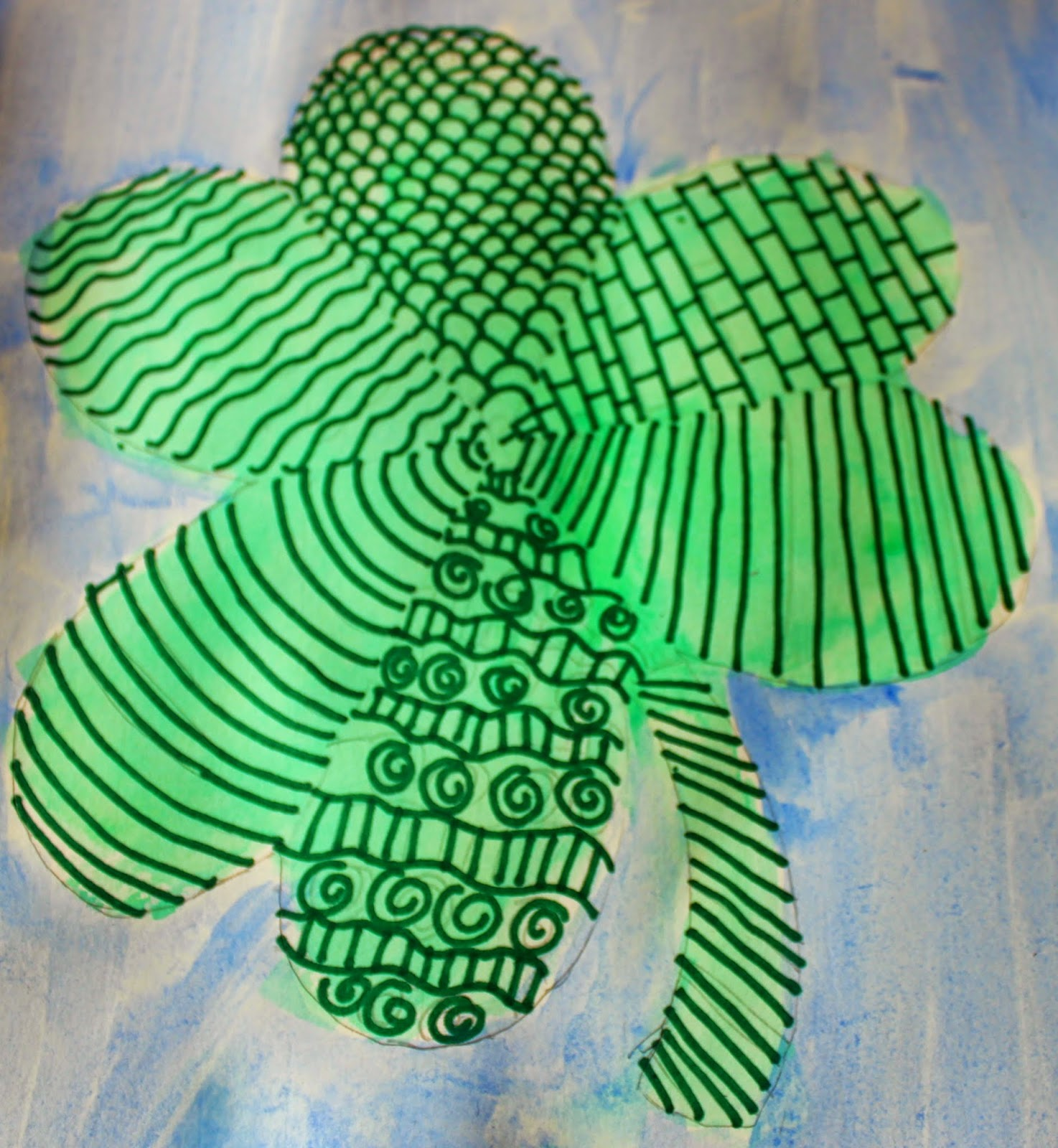 Watercolor shamrock projects for kids
